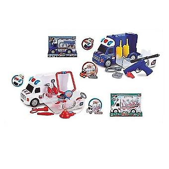Robotic toys police truck led blue