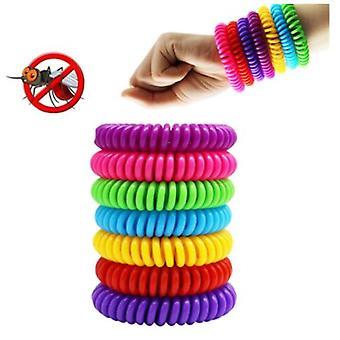 Bracelet Moustique 10 Pack Avec 4 Patchs Imperméables Bracelets De Bracelets Anti-Insectes