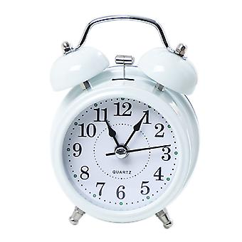 Alarm Clock Digital Alarm Clock Digital Metal Bell Student With Small Alarm Clock (white