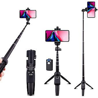 Selfie Stick Jalusta Bluetooth, laajennettava matkapuhelimen kolmijalka