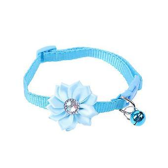Haustier Katzenhalsband Glocke Blume Einstellbare leichte Trage Schnalle Hundehalsband Glocken Schöne Katze Halskette