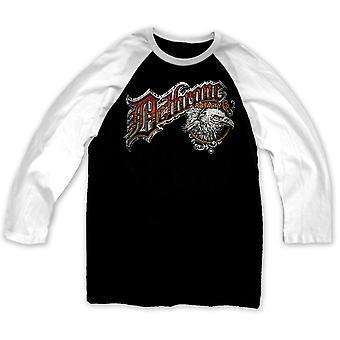 Dethrone Smooth Ltd. Raglan Shirt - Black/White