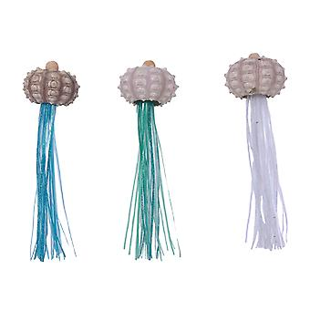 Coastal Jellyfish Christmas Holiday Ornaments 8.5 Inches Set of 3