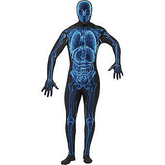 Segunda pele fantasia esqueleto de raio-x X-ray Stretchanzug