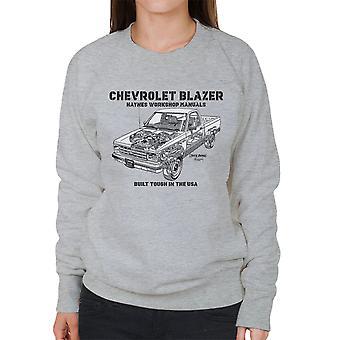 Haynes Owners Workshop Manual Chevrolet Blazer Black Women's Sweatshirt