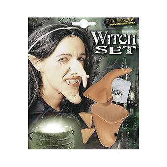 Halloween e horror bruxa definido