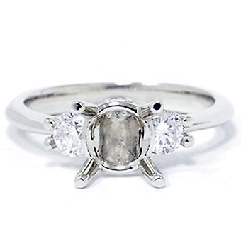 1 / 3ct Diamant Verlobungsring semi-Mount 14 K Einstellung