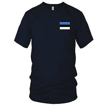 Estland nasjonale flagg - brodert Logo - 100% bomull t-skjorte Kids T skjorte
