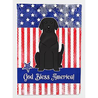 Carolines Treasures  BB3052GF Patriotic USA Black Labrador Flag Garden Size