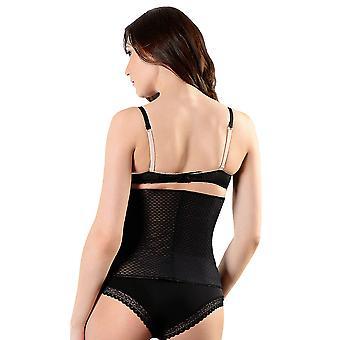 Esbelt ES449 femei ' s negru/nud firma/medium control slăbire modelarea talie cincher