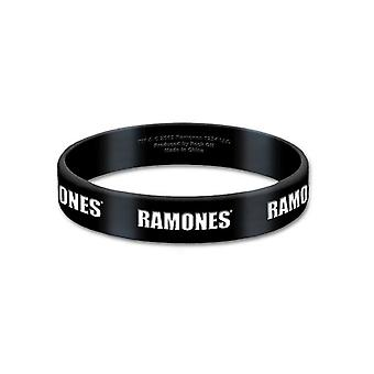 Ramones Wristband klassisches Band Logo hey ho new Official 17mm black Rubber