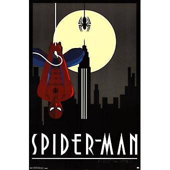 Spiderman Art Deco Poster affisch Skriv