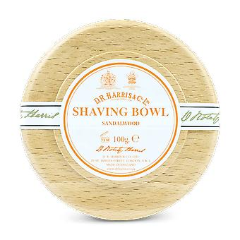 D R Harris Sandalwood Shaving Soap & Bowl Beech 100g
