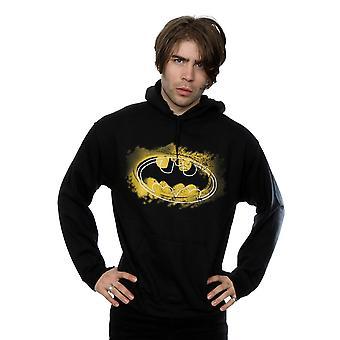 DC كاريكاتير الرجال & apos;ق باتمان رذاذ شعار هودي