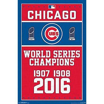 Cubs de Chicago - Champions 16 Poster Print