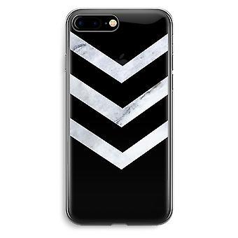 iPhone 7 Plus transparentes Gehäuse (Soft) - Marmor Pfeile