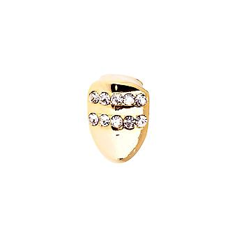 Bling 10x6mm Grill - one size fits all gold tooth Cap