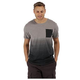 Regatta Mens Tyren Coolweave Cotton Contrast Loose Fit Casual T Shirt