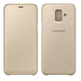 כיסוי הארנק סמסונג מקרה EF-WA605CFEGWW גלקסי A6 ועוד 2018 A605F מקרה מגן זהב