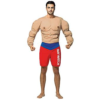 Bay Watch sauveteur Muscle Beach professions habille-Mens Costume OS