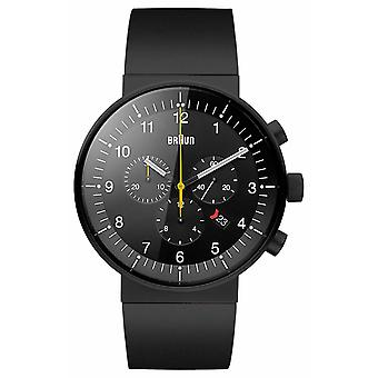 Braun Mens Prestige Black Chronograph BN0095BKBKBKG Watch