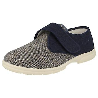 Mens Easy B 'Rushden' Velcro Fastened Canvas Shoes