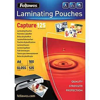Fellowes Laminate sheet A6 125 micron glossy 100 pc(s)