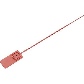 TRU COMPONENTS 1457897 Cable tie seal 140 mm 2 mm Red Stepless adjustment 1 pc(s)