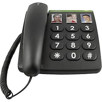 doro PhoneEasy 331ph Corded Big Button Kamerataste Kein Display Schwarz
