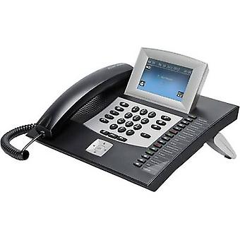 Auerswald COMfortel 2600 PBX ISDN Answerphone, Headset connection Touch display Black, Silver