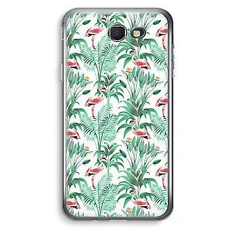 Samsung Galaxy J7 Prime (2017) Transparent Case (Soft) - Flamingo leaves