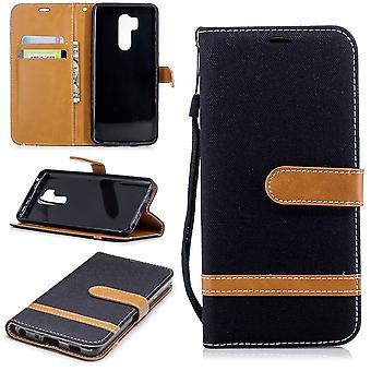 LG G7 Telefon ärm skyddande väska fall täckkort fack Etuis bok-stil svart