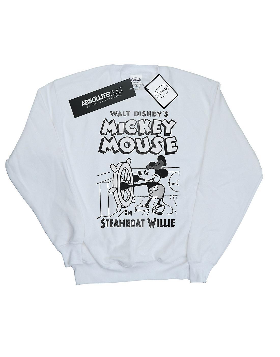 Disney Women's Mickey Mouse Steamboat Willie Sweatshirt