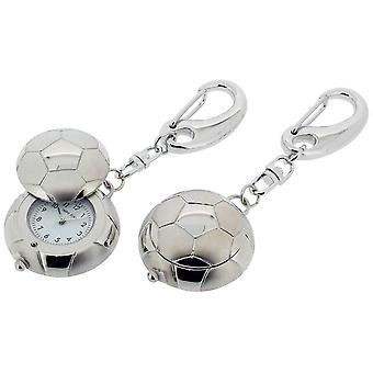 Gift Time Products Football with Cover Clock Key Ring - Silver