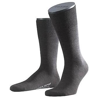 Midcalf Melange Flughafen Falke Socken - dunkelbraun