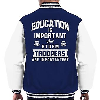 Original Stormtrooper Education Is Important Men's Varsity Jacket