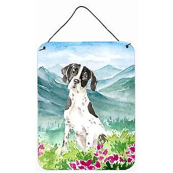Mountain Flowers English Pointer Wall or Door Hanging Prints