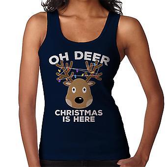 הו חג המולד איילים כאן נשים ' s אפוד