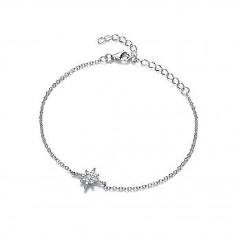 Cavendish French Silver and CZ Brilliant Star Bracelet