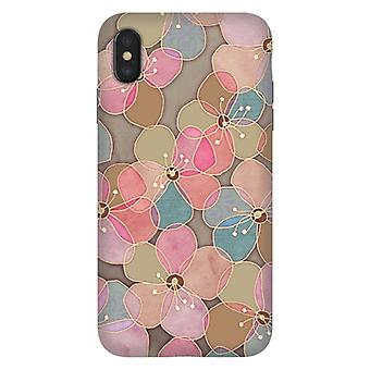 ArtsCase Designers Cases SIMPLE FLORAL IN SOFT NEUTRALS AND PINK for Tough iPhone Xs Max
