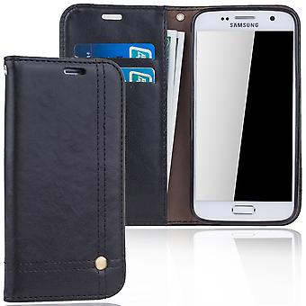 Cell phone cover case voor Samsung Galaxy S7 cover Wallet case zwart