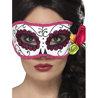 Day of the Dead Eyemask, WHITE/PINK