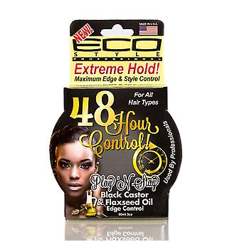 Eco Styler Play'n Stay Edge & Style Control Black Castor & Flaxseed 3oz