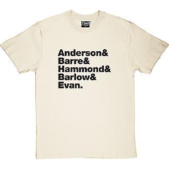 Jethro Tull Line-Up Natural Men's T-Shirt