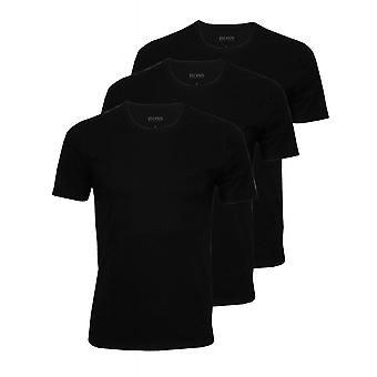 BOSS 3-Pack Regular-Fit Crew-Neck T-Shirts, schwarz