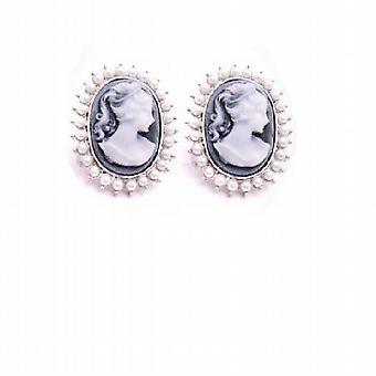 Vind mooie sieraden cadeau moeder & vriendin Cameo parels oorbellen