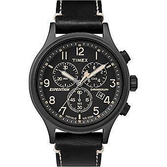 Timex Watch chronograph quartz men's watch with leather TW4B09100