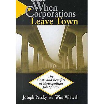 Quand les sociétés quitter la ville les coûts et les avantages de l'emploi métropolitain étalement par PERSKY & JOSEPH
