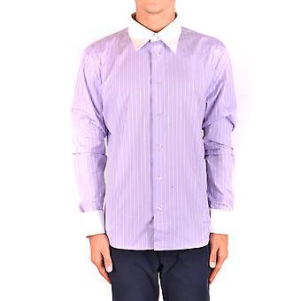 Bikkembergs Ezbc101069 Hombres's Camisa de Algodón Púrpura
