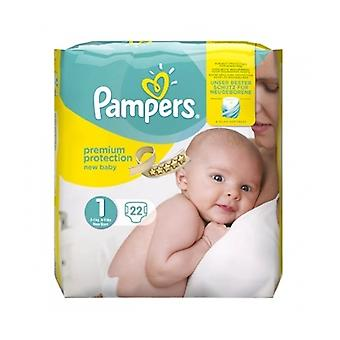 Pampers Premium Prot Newborn Size 1 22S